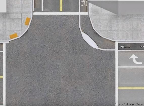 VIDÉO. Ce type d'intersection ferait le bonheur des cyclistes (et des