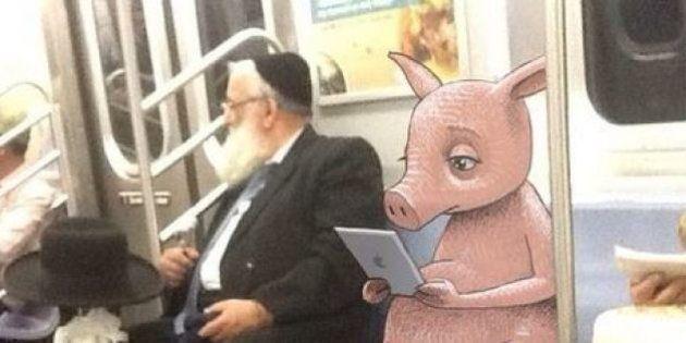 PHOTOS. Un artiste transforme le métro de New York avec des dessins de personnages
