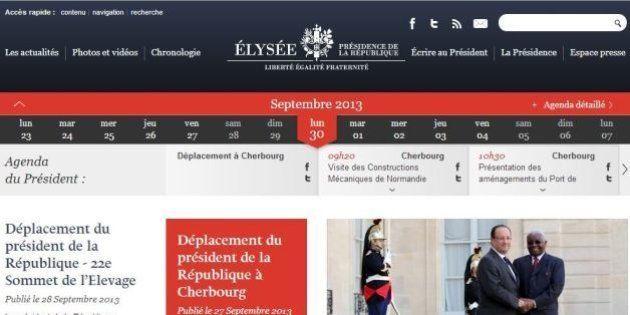 Le député qui s'inquiète du code couleur du site de l'Élysée