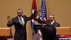 La preuve que Raul Castro n'est pas habitué aux conférences de
