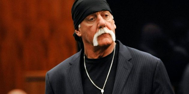 Hulk Hogan, whose given name is Terry Bollea, leaves the courtroom during a break Wednesday, March 9....