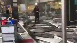 Les premières images des explosions à Bruxelles postées sur les réseaux