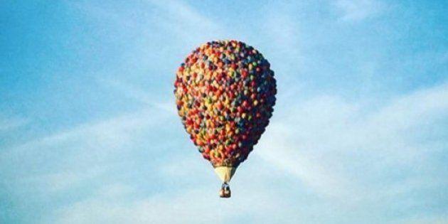 PHOTOS. La montgolfière du dessin animé
