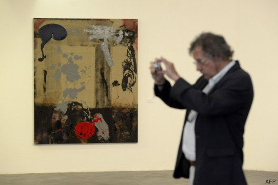 PHOTOS. Sylvester Stallone et ses toiles accueillis au Musée d'art moderne de Nice par Christian