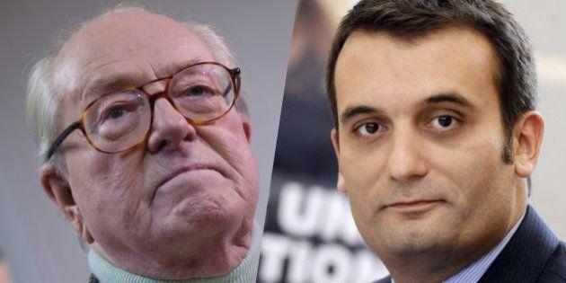 Florian Philippot, N. 2 du FN, défend Marine Le Pen face à son père qu'il estime