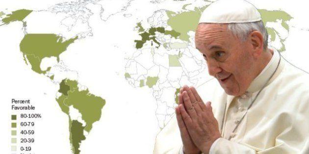 Pape François: une popularité exceptionnelle à travers le monde chrétien, selon une étude