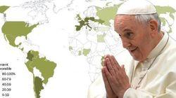 L'impressionnante popularité mondiale du pape