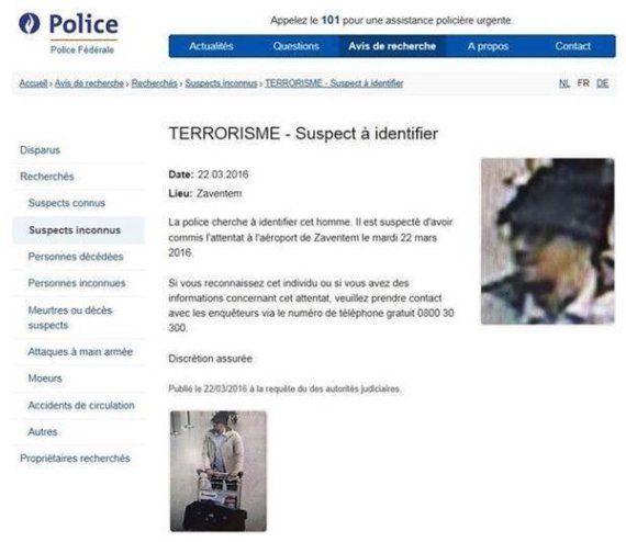 Attentat à l'aéroport de Bruxelles : un suspect