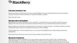 BlackBerry s'offre la presse mondiale pour se