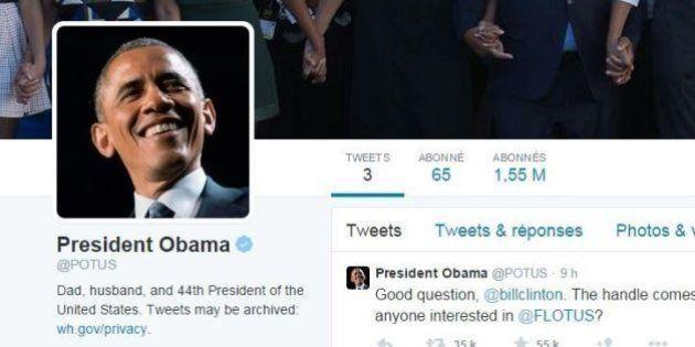 Barack Obama a enfin son compte Twitter personnel, @POTUS, 6 ans et demi après sa première