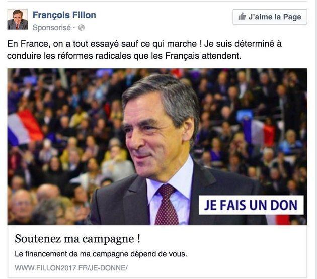La publicité politique sur Facebook, cagnotte de la primaire à