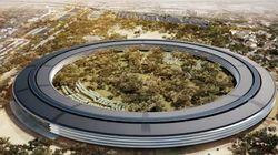 Le Campus futuriste d'Apple prend du