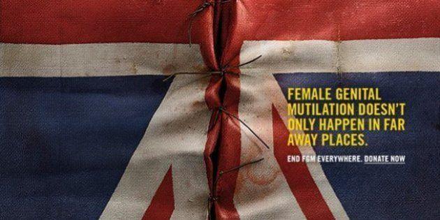 Une campagne choc contre l'excision utilise des drapeaux occidentaux pour sensibiliser
