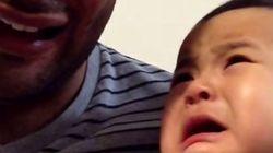 Ce bébé ne supporte pas de voir son père