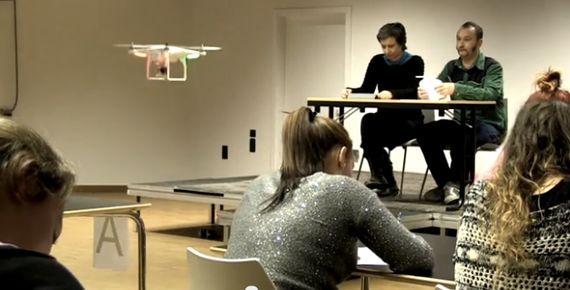 Des étudiants en examen surveillés par drone?