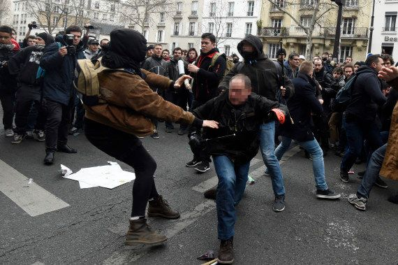 EN IMAGES. Des incidents éclatent pendant les manifestations contre la loi