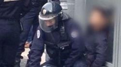 La scène d'un lycéen tabassé par un policier filmée sous plusieurs