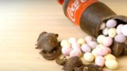 Faire une bouteille de Coca en chocolat pour Pâques? Pas si