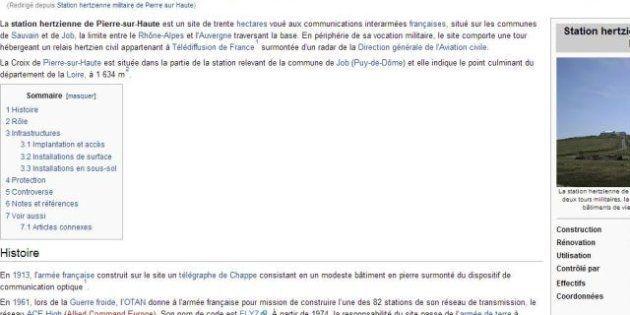 Wikipedia : la DCRI est accusée d'avoir fait supprimer un article de l'encyclopédie