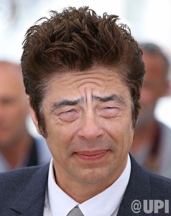 PHOTOS. Un cliché de Benicio Del Toro à Cannes les yeux plissés a bien fait rire les