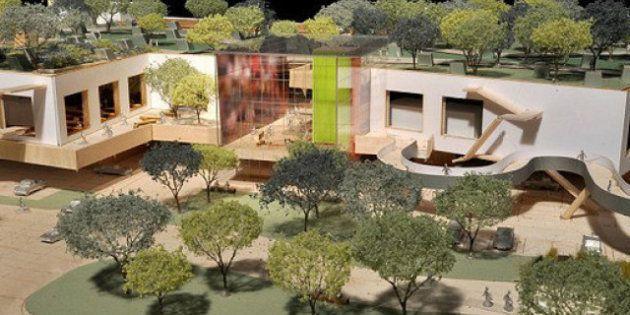 Chez Facebook, les nouveaux bâtiments du siège social conçus par Frank Gehry seront