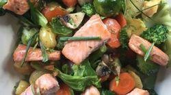 Vite fait, Bien fait: saumon fumé maison et légumes