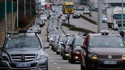 Contre Uber, les taxis se mobilisent en bloquant