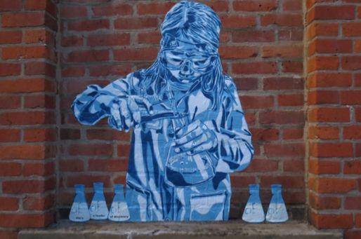 Women's Forum Street Art Project - Live performance de la street artist Kashink à Paris le 17