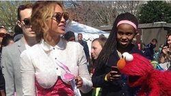 Beyoncé et Jay-Z s'incrustent à la chasse aux œufs de Pâques des