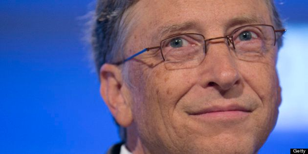 Billionaire Bill Gates, chairman and founder of Microsoft Corp., listens during the 2013 Fiscal Summit...
