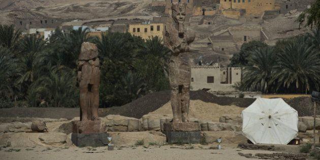 PHOTOS. Égypte : deux colosses d'Amenhotep III