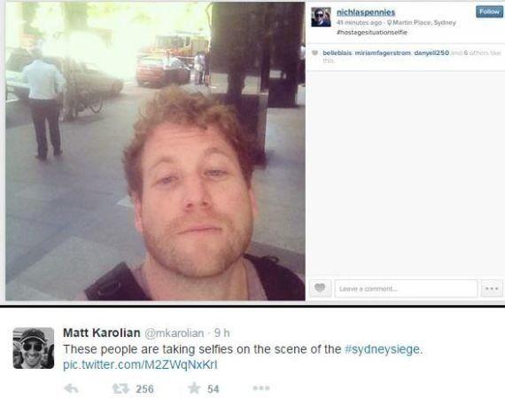 PHOTOS. Sydney: des passants prennent des selfies devant la prise