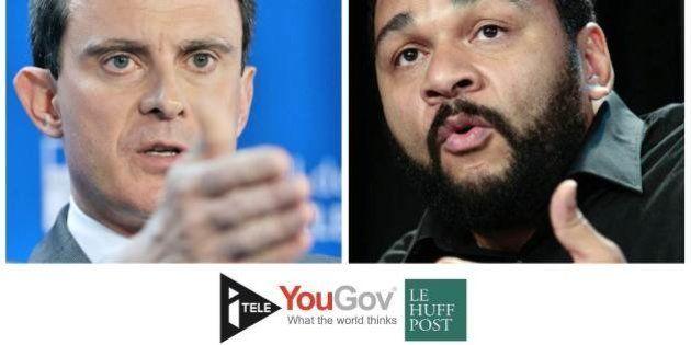 SONDAGE - Valls vs Dieudonné: 64% des Français estiment que l'un a fait de la publicité à
