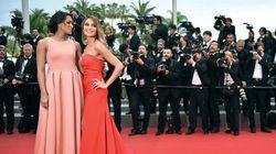 Valérie Bègue dans une robe aussi rouge que le tapis de
