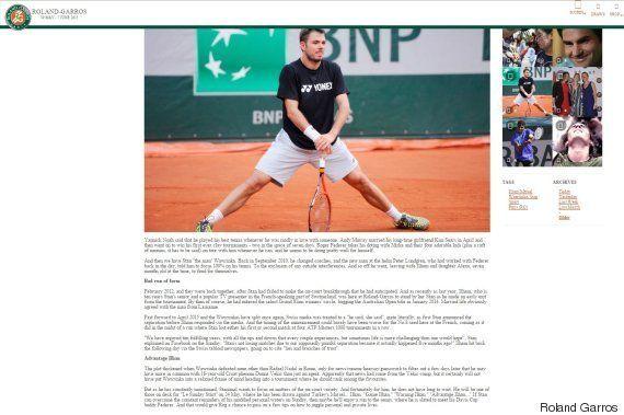 Roland-Garros 2015: Stan Wawrinka en colère contre un article du site du tournoi, liant ses performances...