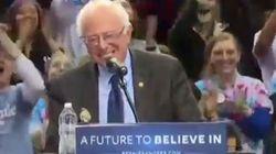 Ce moment de grâce entre Bernie Sanders et un oiseau vaut le