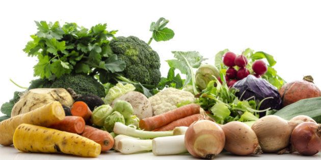 organic fresh vegetables from a