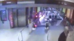 Première vidéo du train qui a déraillé à l'aéroport de
