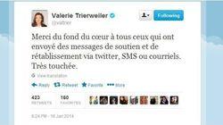 Valérie Trierweiler remercie les personnes qui l'ont