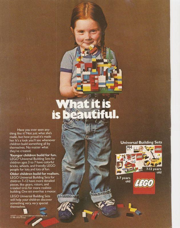 PHOTOS. Cette publicité LEGO de 1981 devrait être vue par tous ceux qui fabriquent, achètent ou vendent...