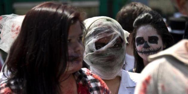 VIDÉO. La Marche des Zombies au Chili a réuni près de 20.000