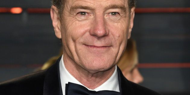 Bryan Cranston arrives at the Vanity Fair Oscar Party on Sunday, Feb. 28, 2016, in Beverly Hills, Calif....