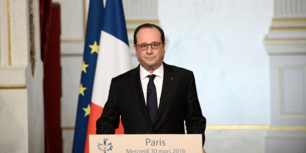 French President Francois Hollande delivers a speech on constitutional reform and the fight against terrorism...