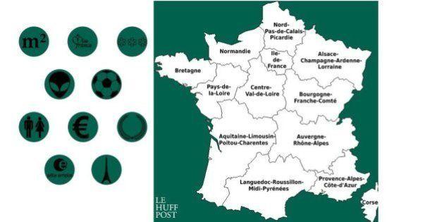 Carte des nouvelles régions: taux de chômage, titres de Ligue 1 et observations d'Ovni... le palmarès...
