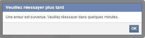 Bug Facebook : impossible de publier, commenter ou