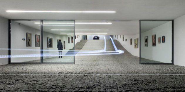 PHOTOS. L'architecte Robert Konieczny imagine une entrée de garage en galerie