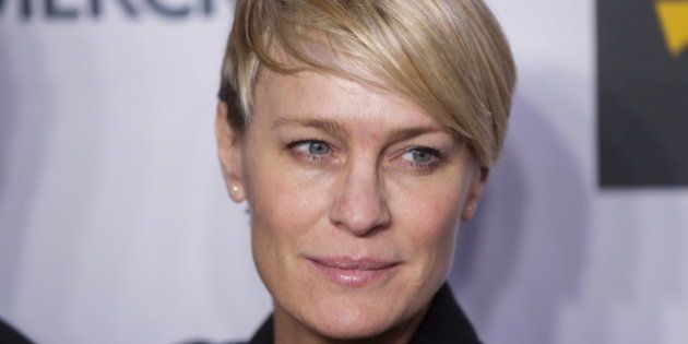 Actress Robin Wright arrives for the opening night of the Women in the World summit in New York April...