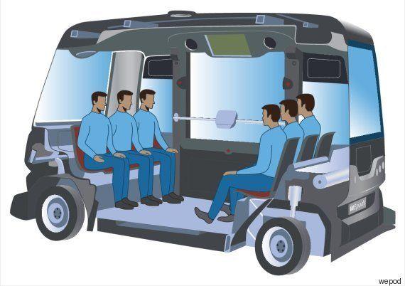 VIDÉO. La voiture autonome française WEpod prend la route aux