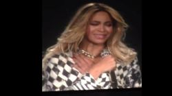 Les larmes de Beyoncé sur