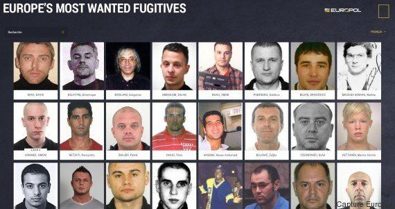 Voici les 45 fugitifs les plus recherchés